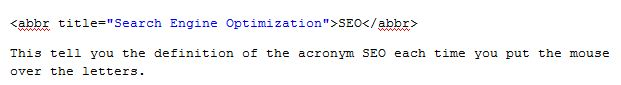 Abbreviation coding for Entrepreneurs